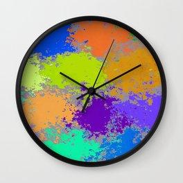 Paint Dots Wall Clock