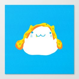 Peek-a-boo Pizza Cat Canvas Print