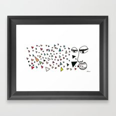 Sick of happiness Framed Art Print