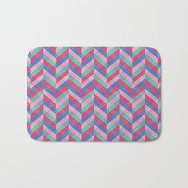 Minimalist Geometric Candy Colors Bath Mat