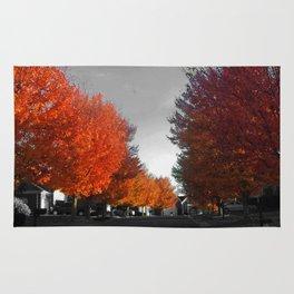 Orange Leaves Rug