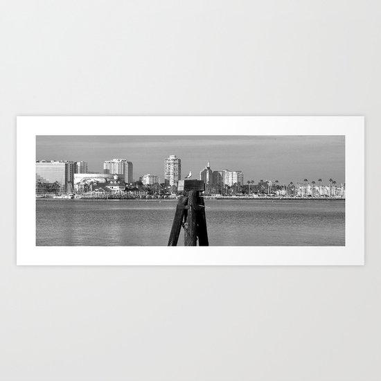 A Gull kind of City Art Print