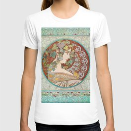 Alphonse Mucha  -  Ivy T-shirt