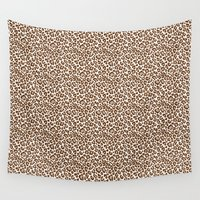 leopard Wall Tapestries featuring Leopard by Zen and Chic