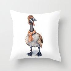 Aviator Canada Goose Throw Pillow