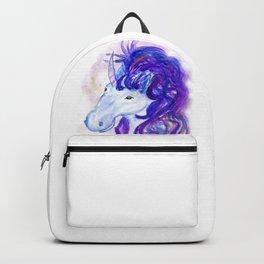 Fantasy unicorn portrait Backpack