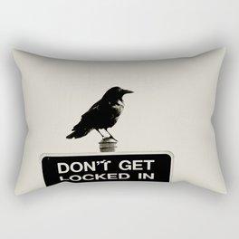 Don't Lock Me In - Graphic Birds Series, Plain - Modern Home Decor Rectangular Pillow