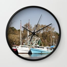 Bayou La Batre is a fishing village with a seafood-processing harbor for fishing boats and shrimp bo Wall Clock