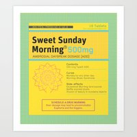 Sweet Sunday Morning Poster Series - 2 Art Print