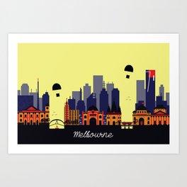 Lovely Melbourne Art Print