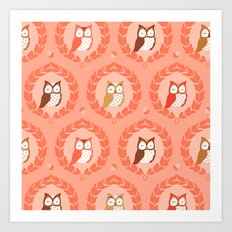 Sweet Owlies - Dawn Art Print