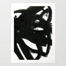 black on white 1 Art Print