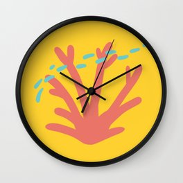 Coral Series:Fantasy Fan Wall Clock
