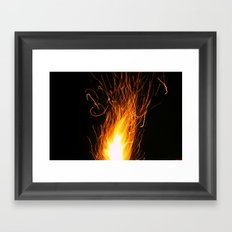 Let The Sparks Fly Framed Art Print