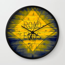 The Road Ends Wall Clock