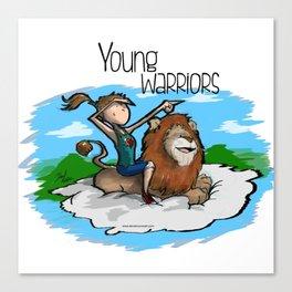 Young Warriors - Tita n' Lion Canvas Print