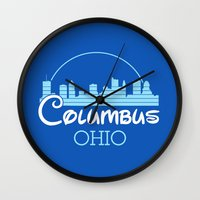 ohio Wall Clocks featuring Columbus, Ohio by MattXM85