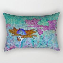 abstracted daisy Rectangular Pillow