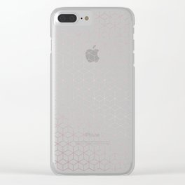 Simply Cubes in Rose Gold Sunset Clear iPhone Case