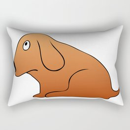 Small sitting dog - canine devotion Rectangular Pillow