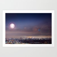 LA's Full Moon Art Print