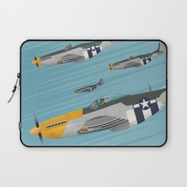 P51 Mustang Flying in Formation Laptop Sleeve