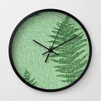 fern Wall Clocks featuring Fern by Mr & Mrs Quirynen