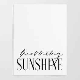 Morning Sunshine, Calligraphy Print, Couple Bedroom Print, PrintableArt Poster
