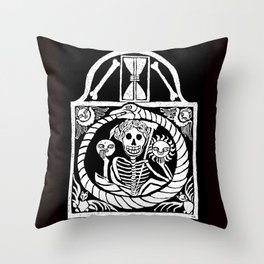 Gothic Gravestone Throw Pillow