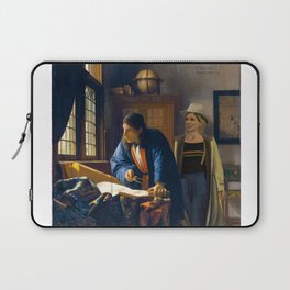 The Doctor and Vermeer's Geographer Laptop Sleeve