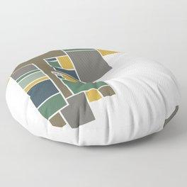 Moody Abstract Floor Plan Art Floor Pillow