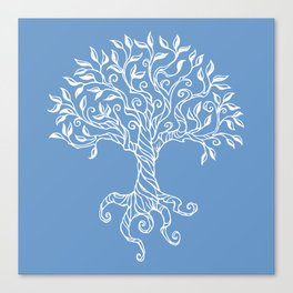 Tree of Life Blue Canvas Print