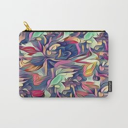 Midnight Floral Abstract Carry-All Pouch