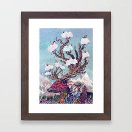 Journeying Spirit (deer) Framed Art Print