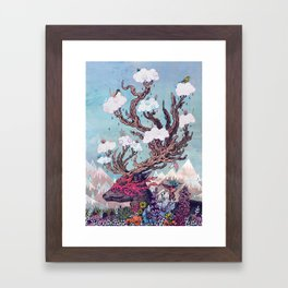 Journeying Spirit (deer) Framed Art Print