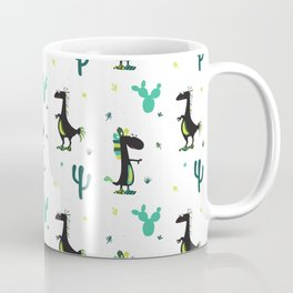 Cute Desert Dinosaurs (white) Coffee Mug