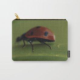 Ladybird climbing a Flower - still life - fine art print - interior design Carry-All Pouch