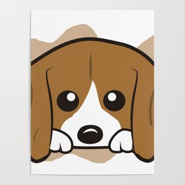 Beagle Mini Style Poster