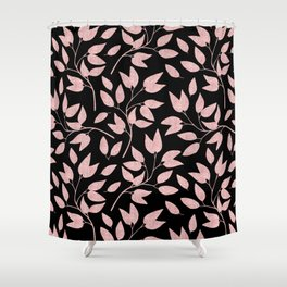 Elegant Rose Gold Leaves One Day or Day One, you decide typography Shower Curtain