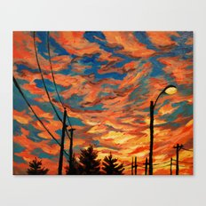 Street Meets Sky  Canvas Print