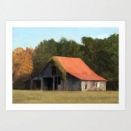 Old barn #1 Art Print