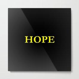 Hope 1 - yellow version Metal Print