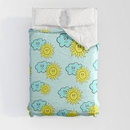Cute baby design in blue Comforters