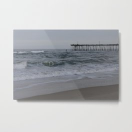 Overcast Day at Nag's Head Metal Print