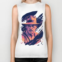indiana jones Biker Tanks featuring indiana jones// bad actors v2 by mergedvisible