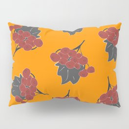 Seamless Pattern Of Rowan Spray, old traditional artistic style. Pillow Sham