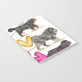 Dogs with Balloons Notebook