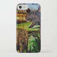 dinosaurs iPhone & iPod Cases featuring DINOSAURS by shannon's art space