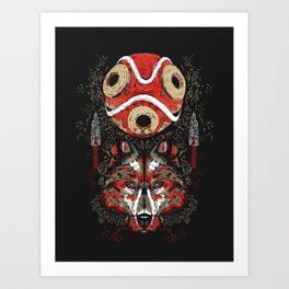 Mononoke Totem Art Print