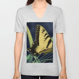 Yellow Tiger Swallowtail Butterfly A125 Unisex V-Neck